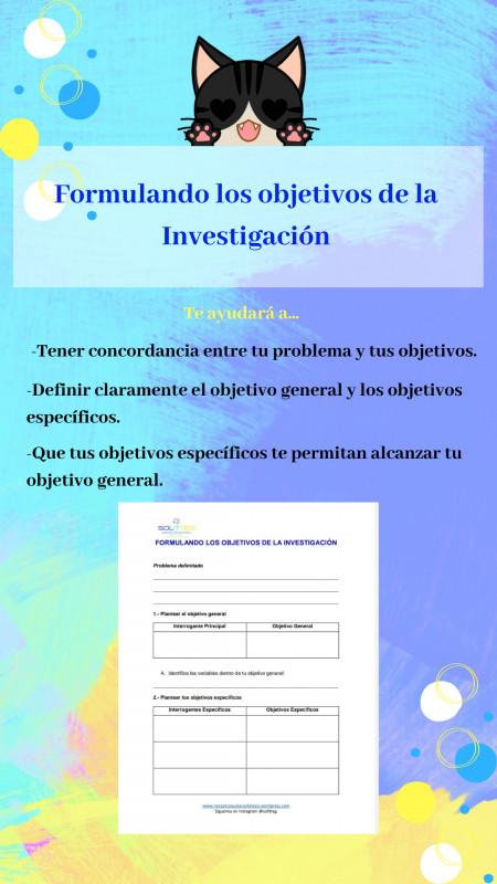 Descargable: Formular Objetivos de la Investigación