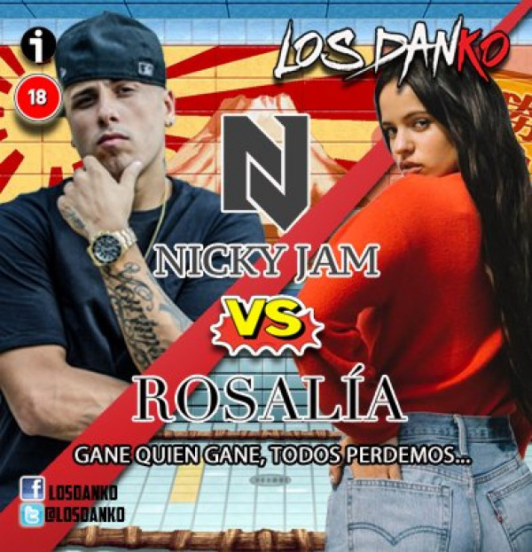 Nicky Jam vs Rosalía