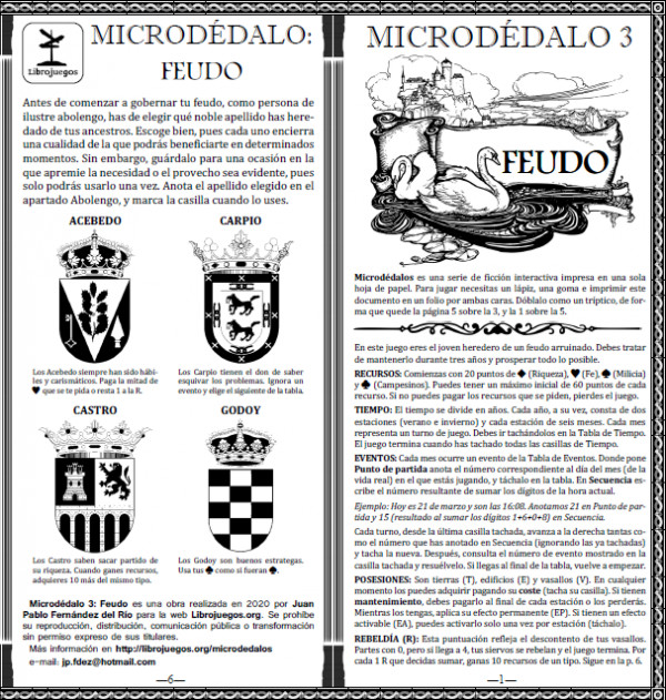 Microdédalo 3: Feudo