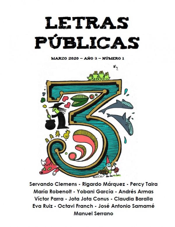 Fanzine Letras Públicas N° 3. Marzo 2020
