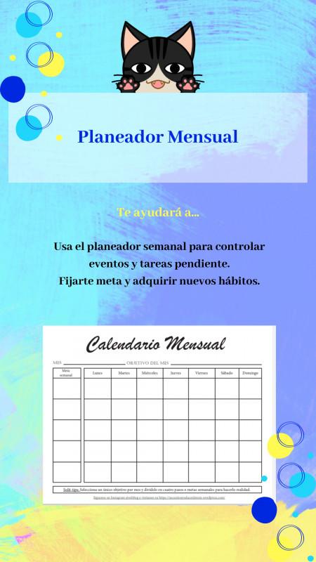 Descargable: Planeador Mensual
