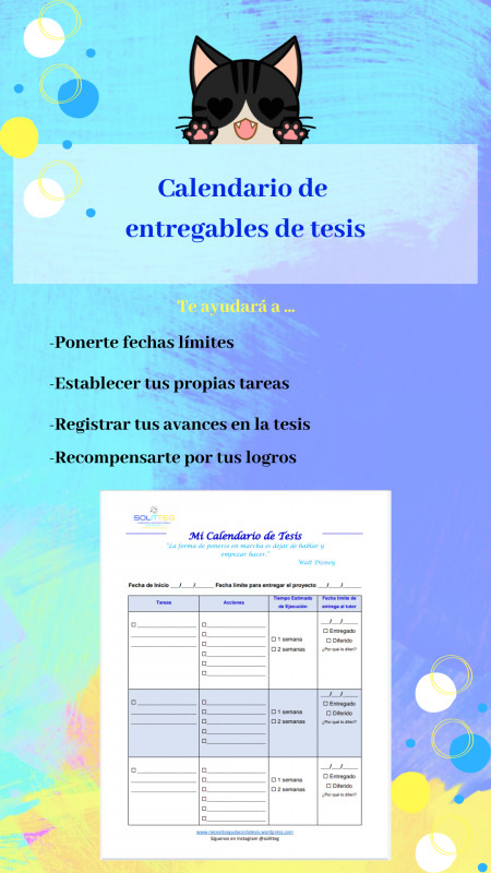 Descargable: Calendario de Entregable de Tesis