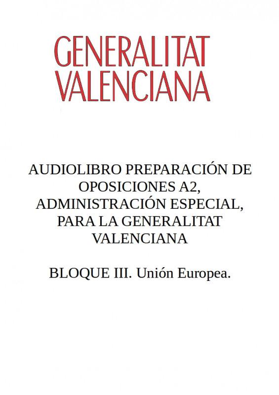 Audiolibro Oposiciones A2 Generalitat Valenciana - BLOQUE III