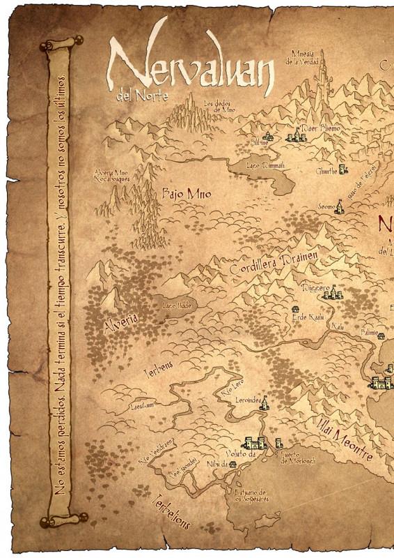Crónicas de Aarth: Mapa de Nervaluan