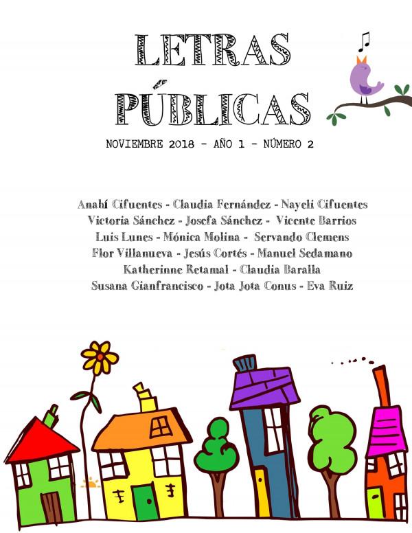Fanzine Letras Públicas N° 2. Noviembre 2018
