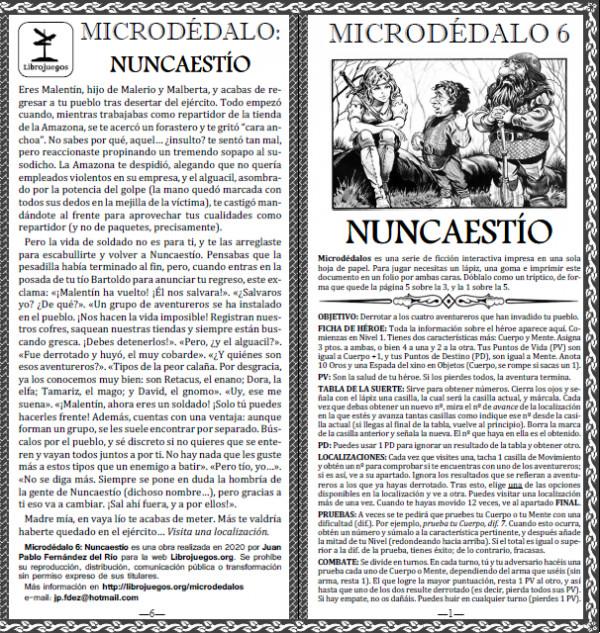 Microdédalo 6: Nuncaestío