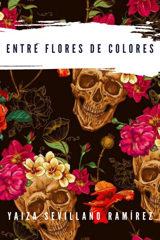 Entre flores de colores
